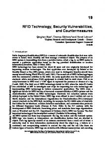 RFID Technology, Security Vulnerabilities, and ... - Semantic Scholar