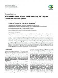RGBD Video Based Human Hand Trajectory Tracking and Gesture