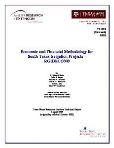 RGIDECON - Texas Water Resources Institute - Texas A&M University