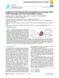 rGO Nanoparticles by Calcination of ZIF-8
