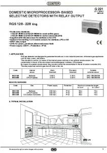 RGS 128-228 - Coster