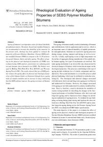 Rheological Evaluation of Ageing Properties of