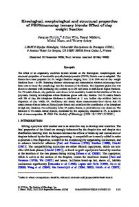 Rheological, morphological and structural properties of ... - UBO