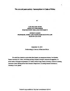 Rhetoric or Reality? - SSRN papers