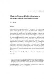 Rhetoric, Ritual, and Political Legitimacy - Korea Journal