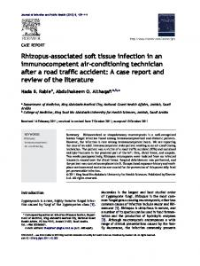 Rhizopus-associated soft tissue infection in an immunocompetent air ...