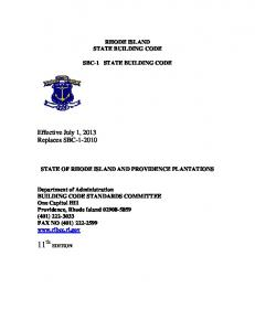 rhode island state building code sbc-1 state building code