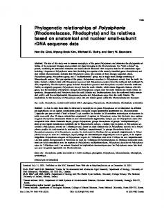 Rhodomelaceae, Rhodophyta - Canadian Science Publishing