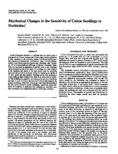 Rhythmical Changes in the Sensitivity of Cotton Seedlings to ... - NCBI