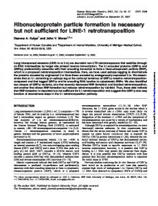 Ribonucleoprotein particle formation is necessary but not sufficient for