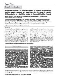 Ribosomal Protein S19 Deficiency Leads to ... - Wiley Online Library