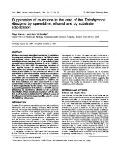 ribozyme by spermidine, ethanol and by substrate ... - BioMedSearch