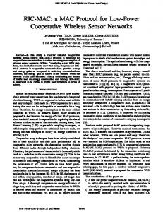 RIC-MAC: a MAC Protocol for Low-Power Cooperative Wireless ... - Inria