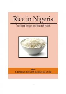 Rice in Nigeria Traditional Recipes and Research