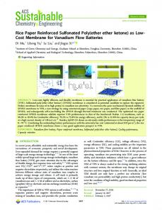 Rice Paper Reinforced Sulfonated Poly(ether ether ... - ACS Publications