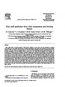 Rice yield prediction from yield components and ...