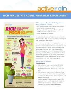 rich real estate agent, poor real estate agent