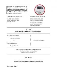 Richard D. Williams v. State of Indiana