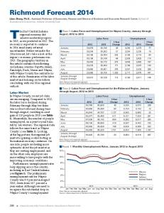 Richmond Forecast 2014 - Indiana Business Research Center