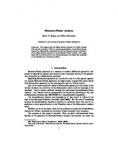 Riemann-Finsler surfaces - Core