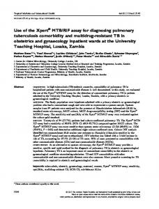 RIF assay for diagnosing ... - BioMedSearch
