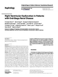 Right Ventricular Dysfunction in Patients with End