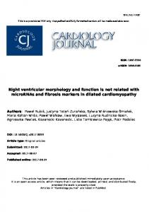 Right ventricular morphology and function is not ...