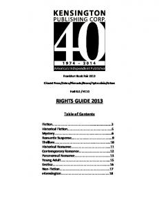 RIGHTS GUIDE 2013