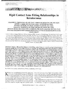 Rigid Contact Lens Fitting Relationships in - Vision Research ...