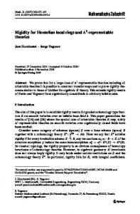 Rigidity for Henselian local rings and $$\mathbb {A}^ 1 ...