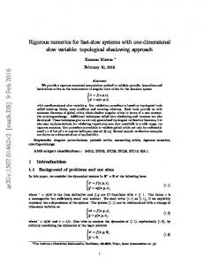 Rigorous numerics for fast-slow systems with one-dimensional slow ...
