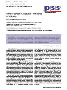 Rims of carbon nanotubes influence of chirality - Fachbereich Physik