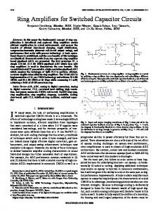 Ring Amplifiers for Switched Capacitor Circuits - IEEE Xplore