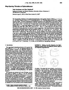 Ring-Opening Vibrations of Spherosiloxanes - American Chemical ...