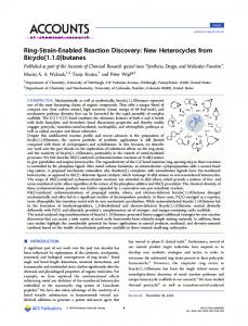 Ring-Strain-Enabled Reaction Discovery - ACS Publications