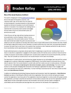 Rise of the Social Business Architect - Business Strategy Innovation