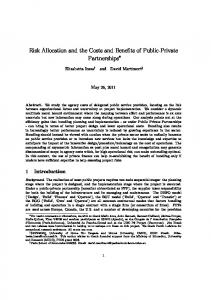 Risk Allocation and the Costs and Benefits of Public-Private ...