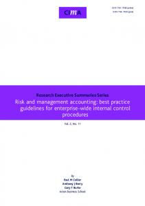 Risk and management accounting: best practice guidelines for ...