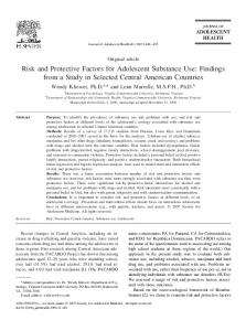 Risk and Protective Factors for Adolescent Substance Use - Journal of ...