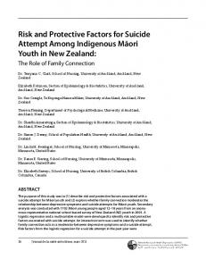 Risk and Protective Factors for Suicide Attempt Among Indigenous ...