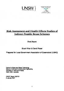 Risk Assessment and Health Effects Studies of ...