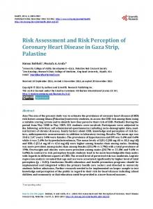 Risk Assessment and Risk Perception of Coronary Heart Disease in ...
