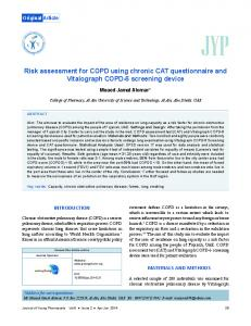 Risk assessment for COPD using chronic CAT questionnaire and ...