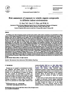 Risk assessment of exposure to volatile organic compounds in ...