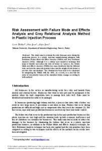 Risk Assessment with Failure Mode and Effects Analysis and Grey