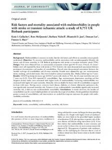 Risk factors and mortality associated with multimorbidity in people with ...