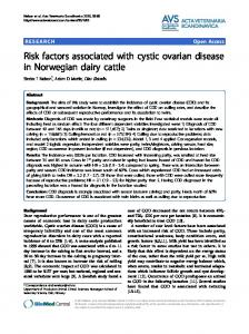 Risk factors associated with cystic ovarian disease