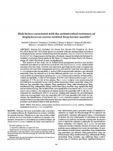 Risk factors associated with the antimicrobial resistance of ... - SciELO