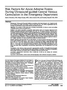 Risk Factors for Acute Adverse Events During ... - Wiley Online Library