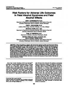 Risk Factors for Adverse Life Outcomes in Fetal Alcohol Syndrome ...
